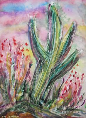 Mixed Media - Arizona Desert by M c Sturman