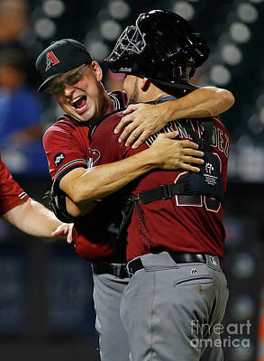 Photograph - Arizona Diamondbacks V New York Mets by Rich Schultz