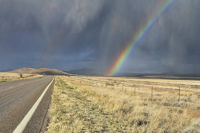 Photograph - Arizona Highway Rainbow by Gregory Scott