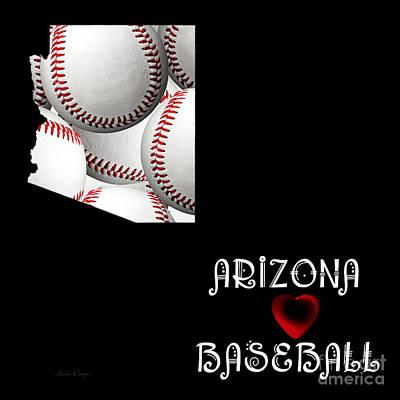 Baseball Digital Art - Arizona Loves Baseball by Andee Design