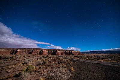 Photograph - Arizona Mesa At Night by Todd Aaron