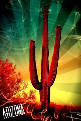 Mixed Media - Arizona by Michelle Dallocchio