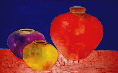Painting - Arizona Pottery by Andrea Vazquez-Davidson