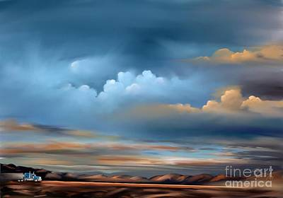 Painting - Arizona Skies by Sgn