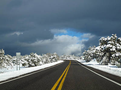 Arizona Snow 1 Art Print