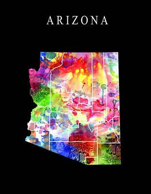 Diamondback Digital Art - Arizona State by Daniel Hagerman