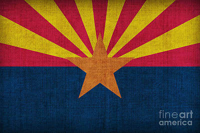 Painting - Arizona State Flag by Pixel Chimp