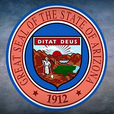 Arizona State Seal Art Print