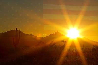 Photograph - Arizona Sun America The Beautiful by James BO Insogna