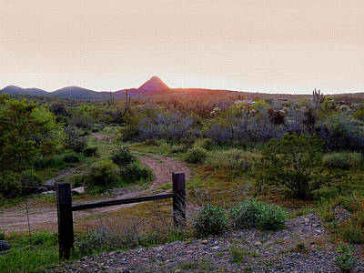 Old Country Roads Photograph - Arizona Sundown by Gordon Beck