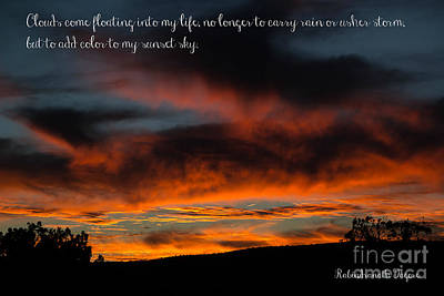 Photograph - Arizona Sunset With Quote by Jim McCain