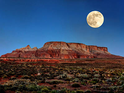 Desert Photograph - Arizona Supermoon 003 by Lance Vaughn