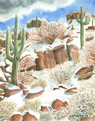 Painting - Arizona The Christmas Card by Eric Samuelson