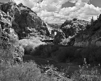 Photograph - Arizona Tracks In Black And White by Lee Craig