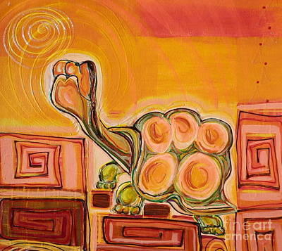 Painting - Arizona Turtle by L Cecka