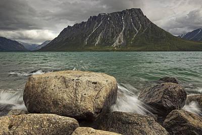Ark Mountain With Kusawa Lake Yukon Art Print by Robert Postma