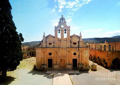 Greek Photograph - Arkadi Monastery Crete Greece by Cimorene Photography