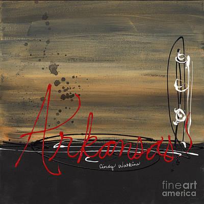 Arkansas Painting - Arkansas Abstract by Cindy Watkins