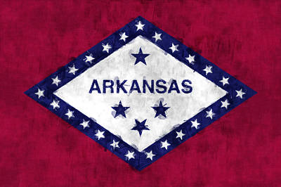 Arkansas Flag Art Print by World Art Prints And Designs