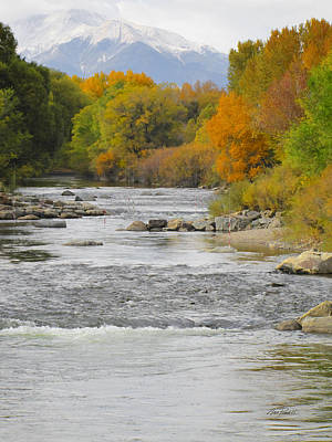Photograph - Arkansas River At Salida Colorado by Ann Powell