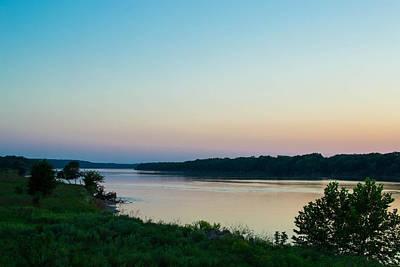 Photograph - Arkansas River At Sunset by Nathan Hillis