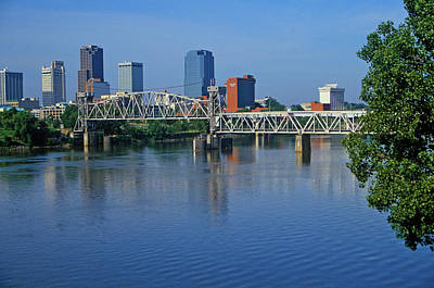 Arkansas River View From North Little Art Print