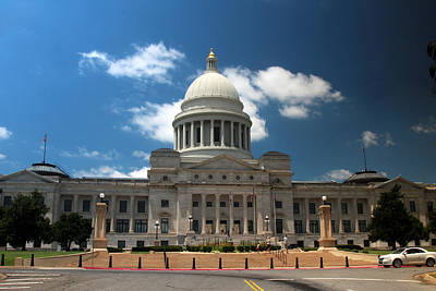 Photograph - Arkansas State Capital Building by Robert Camp