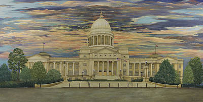 Arkansas Painting - Arkansas State Capitol by Mary Ann King