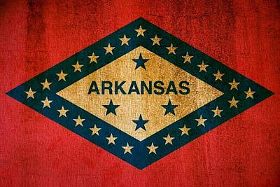 Mississippi River Digital Art - Arkansas State Flag by Dan Sproul