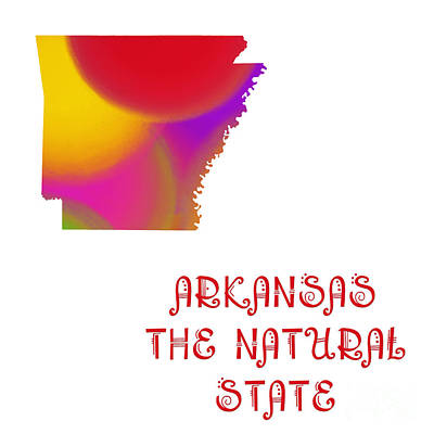 Digital Art - Arkansas State Map Collection 2 by Andee Design