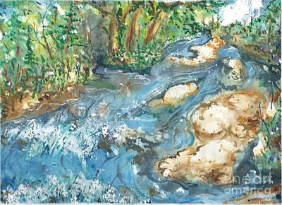 Painting - Arkansas Stream by Reed Novotny