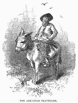 Arkansas Traveler, 1878 Art Print by Granger