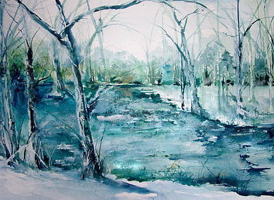 Arkansas Painting - Arkansas Winter by Robin Miller-Bookhout