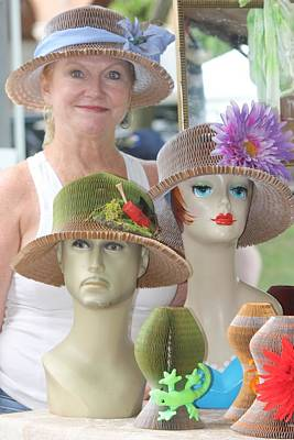 Photograph - Arkansas Yaya Hats by Kathy Cornett