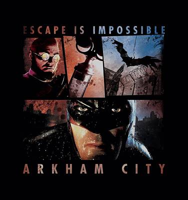 Gotham City Digital Art - Arkham City - Escape Is Impossible by Brand A