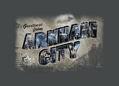 Gotham City Digital Art - Arkham City - Greetings From Arkham by Brand A