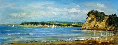 Painting - Arkles Bay Auckland New Zealand 1. by Jennifer Cruden