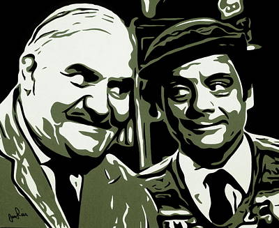 Ronnie Barker Painting - Arkwright And Granville by Ian  King