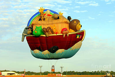 Arky Hot Air Balloon Art Print by Kathy  White