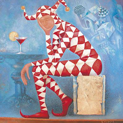 Box Wine Painting - Arlekin by Dmitry Spiros