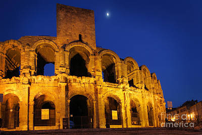 Roman Ancient Photograph - Arles Roman Arena by Inge Johnsson