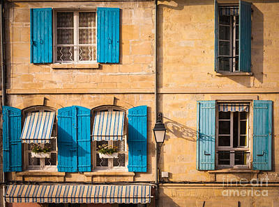 France Provence Photograph - Arles Windows by Inge Johnsson