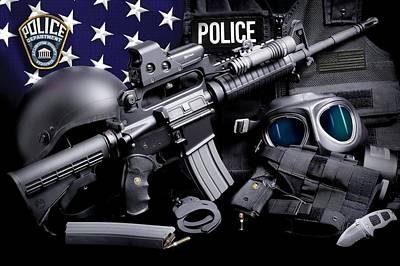 County Police Photograph - Arlington County Police by Gary Yost