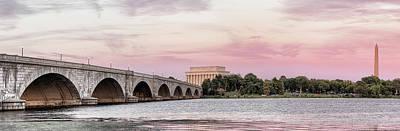 Washington Monument Wall Art - Photograph - Arlington Memorial Bridge With Lincoln by Panoramic Images