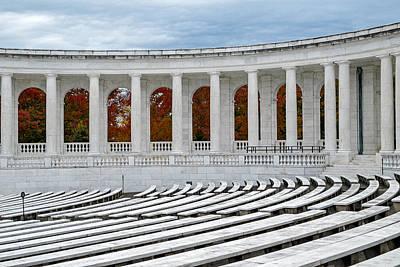 Memorial Photograph - Arlington Memorial Cemetery Amphitheater  by Susan Candelario