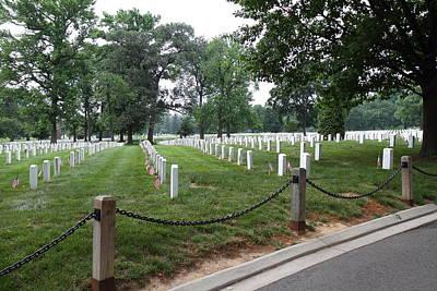 Headstones Photograph - Arlington National Cemetery - 01131 by DC Photographer