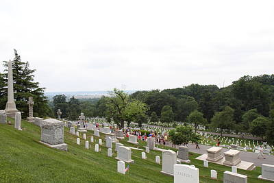 Headstones Photograph - Arlington National Cemetery - 01135 by DC Photographer