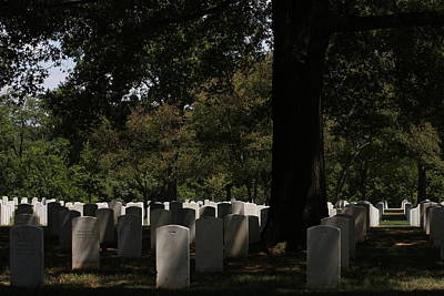Tombstones Photograph - Arlington National Cemetery - 121243 by DC Photographer