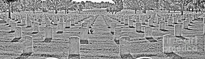 Photograph - Arlington National Cemetery Black And White by Jonathan Harper