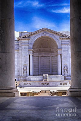 Marble Tomb-stones Photograph - Arlington National Cemetery by Thomas R Fletcher